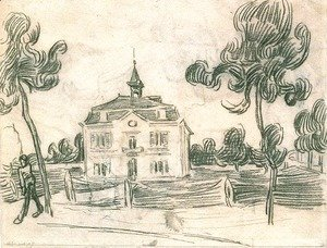 Vincent Van Gogh - The Town Hall at Auvers