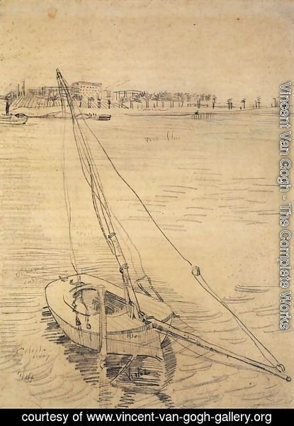 Vincent Van Gogh - Sailing Boat on the Seine at Asnieres