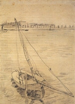 Sailing Boat on the Seine at Asnieres