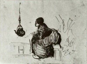 Vincent Van Gogh - Peasant Woman, Sitting by the Fire