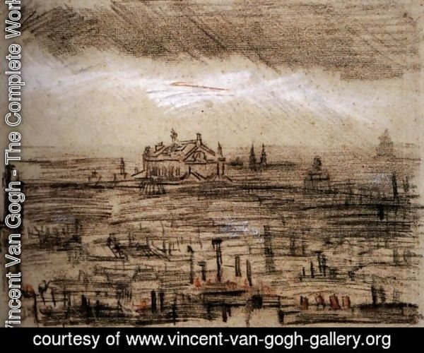 Vincent Van Gogh - A View of Paris with the Op