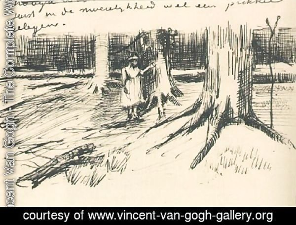 Vincent Van Gogh - A Girl in a Wood 2
