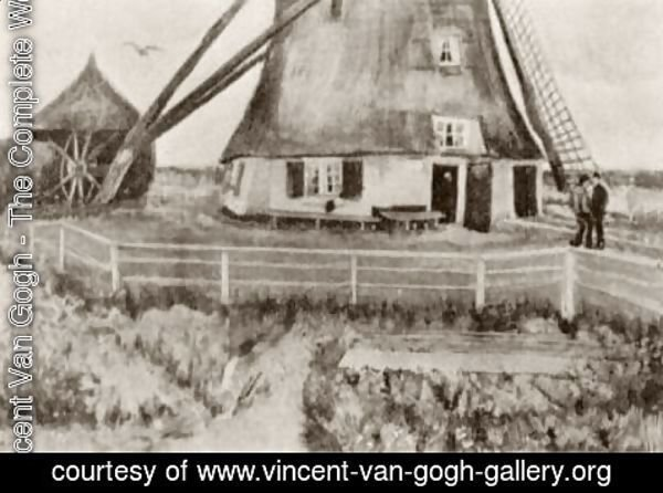 Vincent Van Gogh - Lower Part of the Windmill De Laakmolen