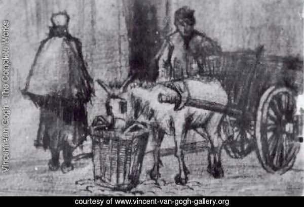 Donkey Cart with Boy and Scheveningen Woman