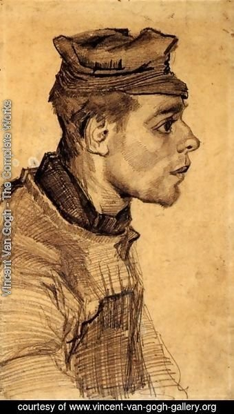 Vincent Van Gogh - Head of a Young Man