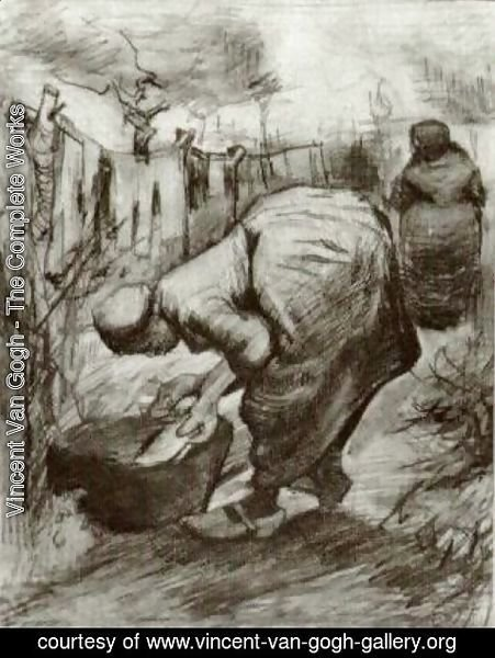 Vincent Van Gogh - Peasant Woman at the Washtub and Peasant Woman Hanging Up the Laundry