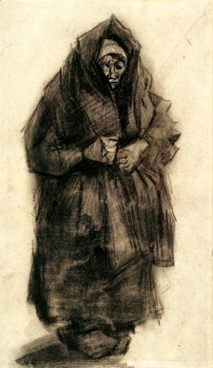Vincent Van Gogh - Woman with a Mourning Shawl 2