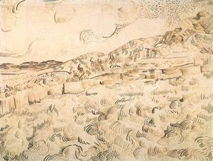 Vincent Van Gogh - Mountain Landscape Seen across the Walls