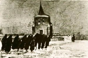 Vincent Van Gogh - Funeral in the Snow near the Old Tower