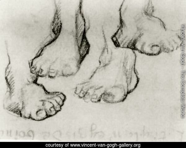Four Sketches of a Foot