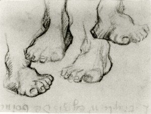 Vincent Van Gogh - Four Sketches of a Foot