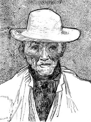 Farmer with straw hat