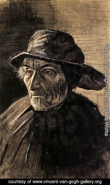 Vincent Van Gogh - Head of a Fisherman with a Sou'wester