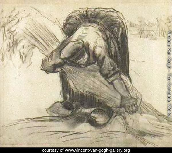 Peasant Woman, Picking Up a Sheaf of Grain