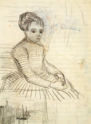 Vincent Van Gogh - Study for Woman Sitting by a Cradle