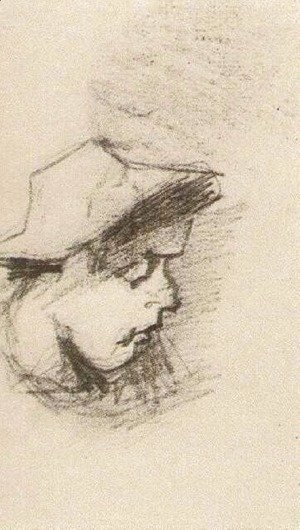 Head of a Man with Straw Hat