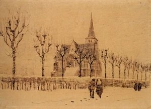 Vincent Van Gogh - Landscape with a Church