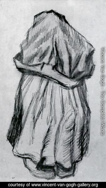 Vincent Van Gogh - Peasant Woman with Shawl over her Head, Seen from the Back