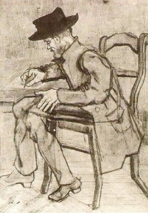 Vincent Van Gogh - Man Writing Facing Left