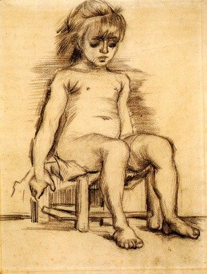 Vincent Van Gogh - Seated Girl Seen from the Front