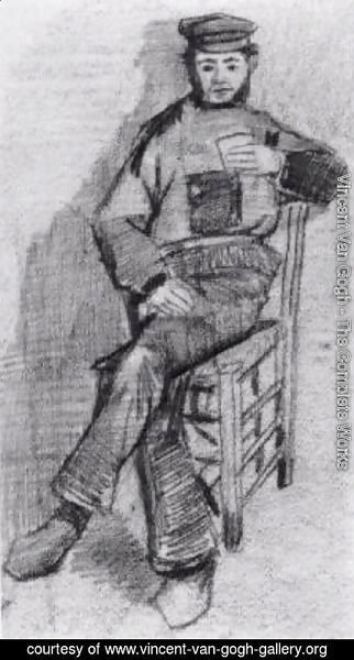Vincent Van Gogh - Man Sitting with a Glass in His Hand