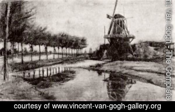 Vincent Van Gogh - Landscape with Windmill