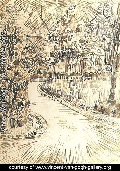 Vincent Van Gogh - Public Garden with a Corner of the Yellow House