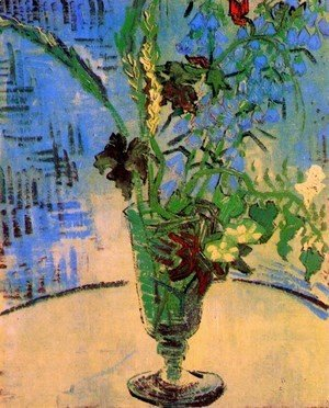 Vincent Van Gogh - Still Life Glass with Wild Flowers