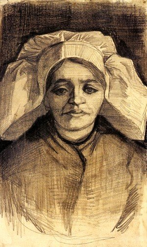 Vincent Van Gogh - Head of a Woman 3