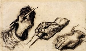 Vincent Van Gogh - Three Hands, Two with Knives