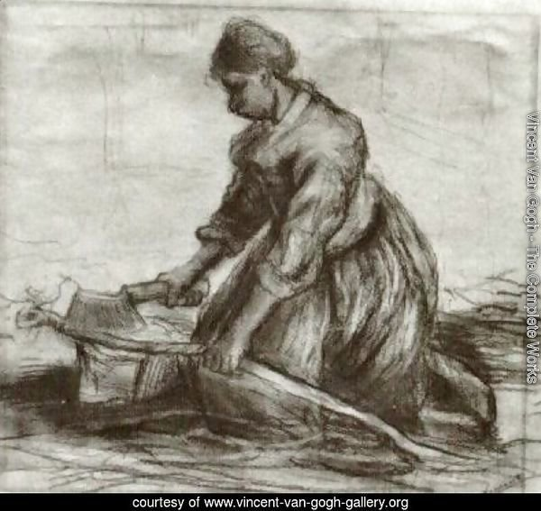 Peasant Woman, Kneeling with Chopper