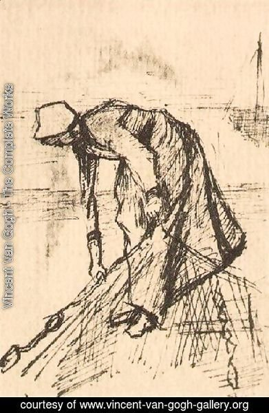Vincent Van Gogh - Stooping Woman with Net