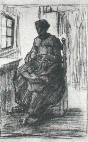 Interior with Peasant Woman Sewing
