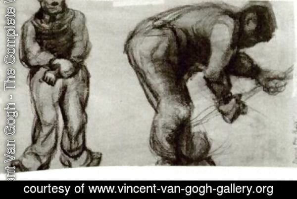 Vincent Van Gogh - Study of Two Peasants