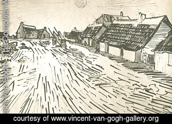 Vincent Van Gogh - Row of Cottages in Saintes-Maries