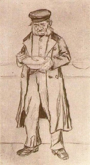 Vincent Van Gogh - Orphan Man with Cap, Eating