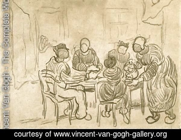 Vincent Van Gogh - Sketch of the Painting The Potato Eaters