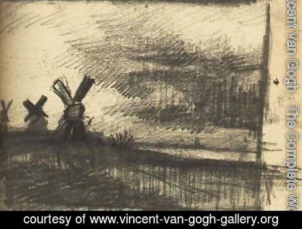 Vincent Van Gogh - Mills in the Neighbourhood of Dordrecht