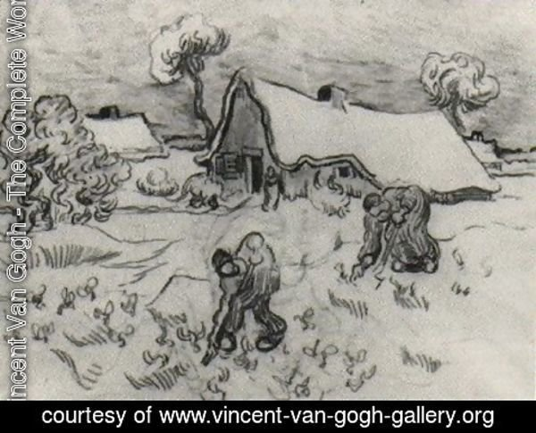 Vincent Van Gogh - Sketch of Diggers and Other Figures