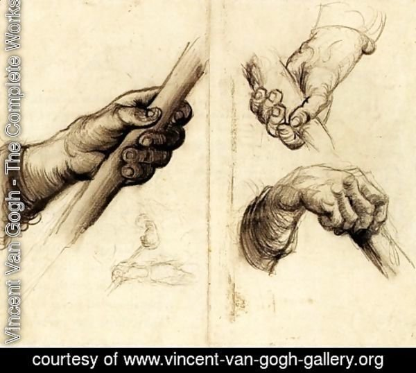 Vincent Van Gogh - Hands with a Stick