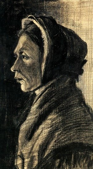 Vincent Van Gogh - Head of a Woman 4