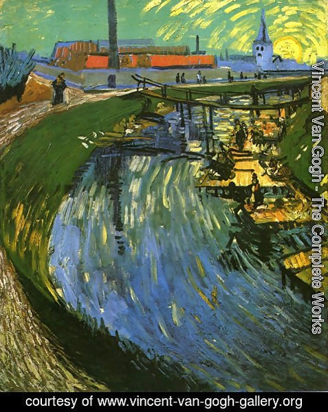 Vincent Van Gogh - The Roubine du Roi Canal with Washerwomen