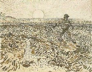 Vincent Van Gogh - Sower with Setting Sun 2