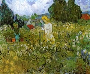 Vincent Van Gogh - Mademoiselle Gachet in her garden at Auvers-sur-Oise