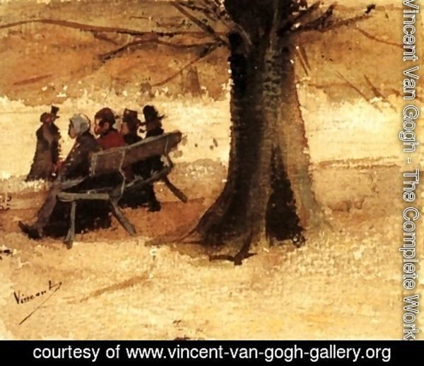 Vincent Van Gogh - Four People on a Bench