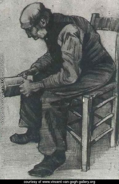 Man, Sitting, Reading a Book