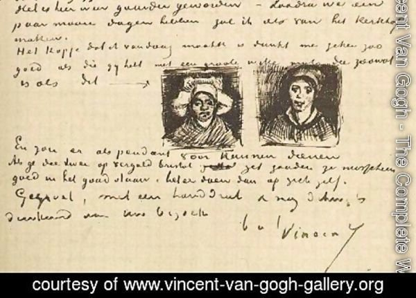 Vincent Van Gogh - Peasant Woman, Two Heads