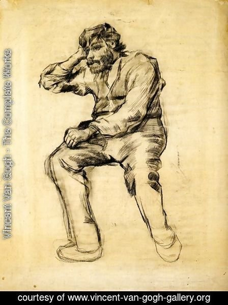 Vincent Van Gogh - Seated Man with a Beard