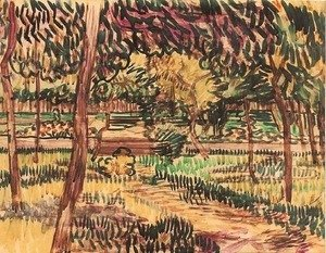 Vincent Van Gogh - Trees in the Garden of the Asylum
