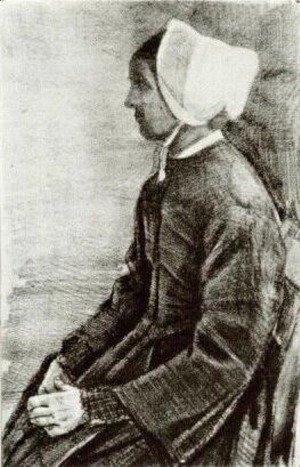 Vincent Van Gogh - Woman with White Bonnet, Sien's Mother 2
